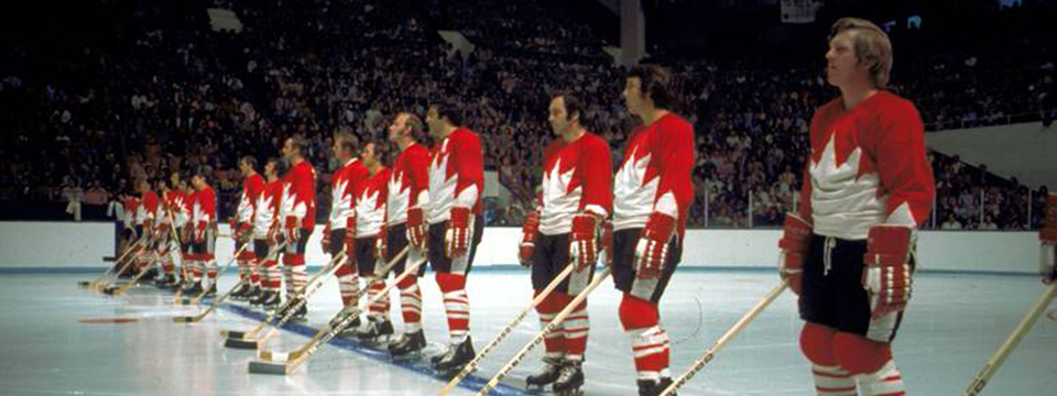 Team Canada's beautiful Summit Series jerseys from '72.