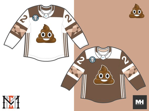 Alternate jersey for Team Shitbag.