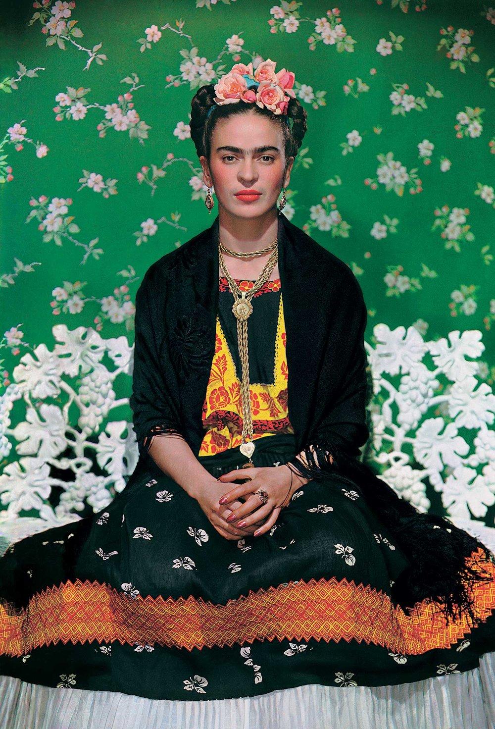 Image credit: Frida on the bench, 1939, photograph by Nickolas Muray © Nickolas Muray Photo Archives