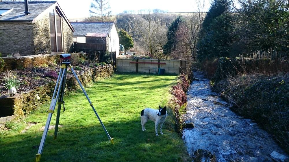 NTAD support dog Scamp enjoyed surveying the stream