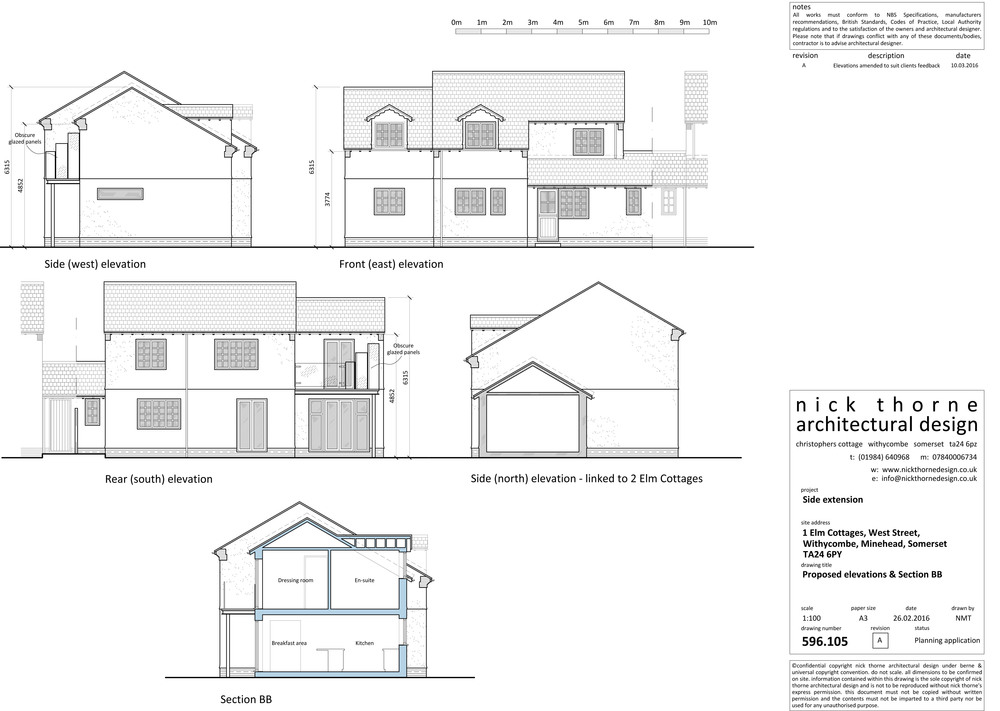 planning approval drawings exmoor house plans