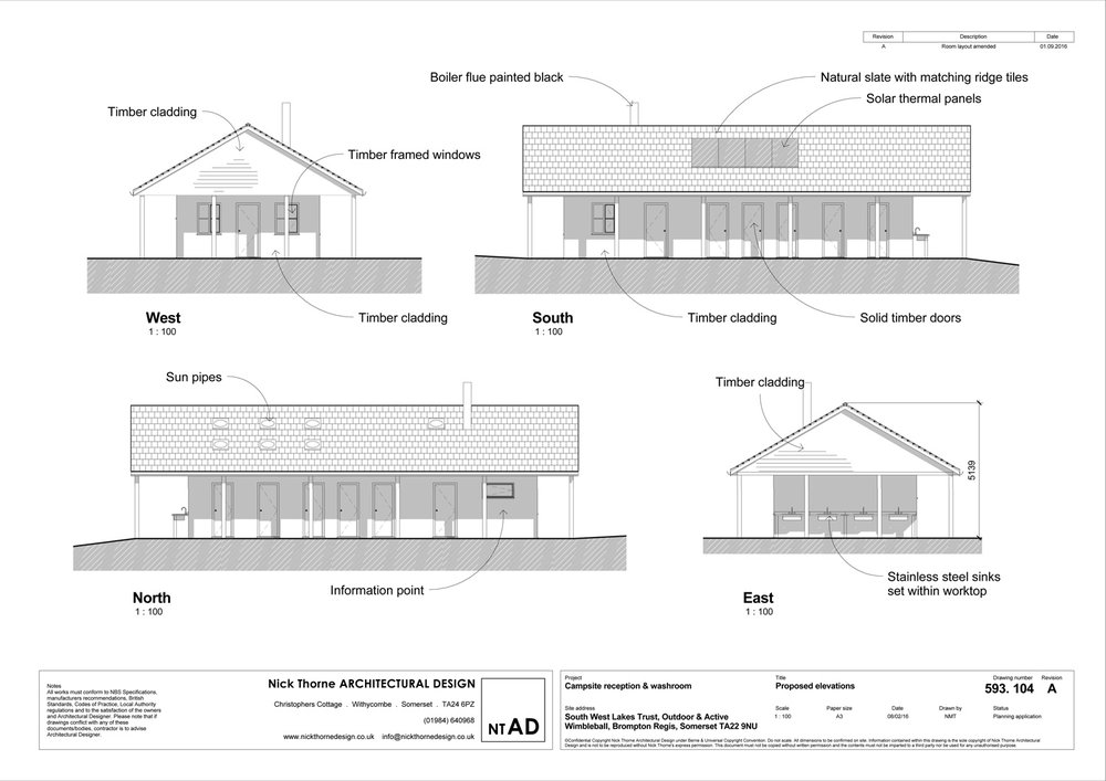 Planning approved elevations