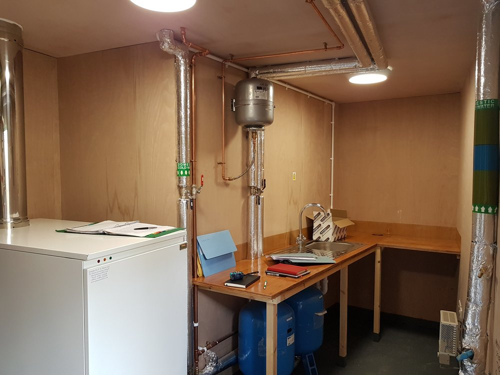 Campsite wash block plant room