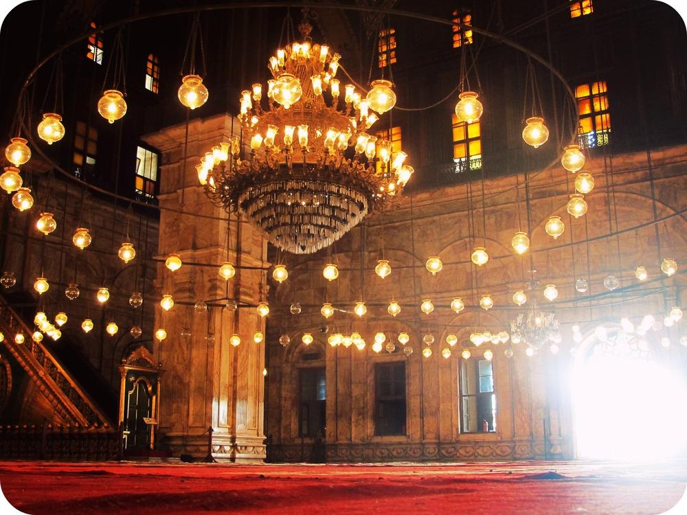 Interior of Lights, Mosque of Muhammad Ali, Cairo.