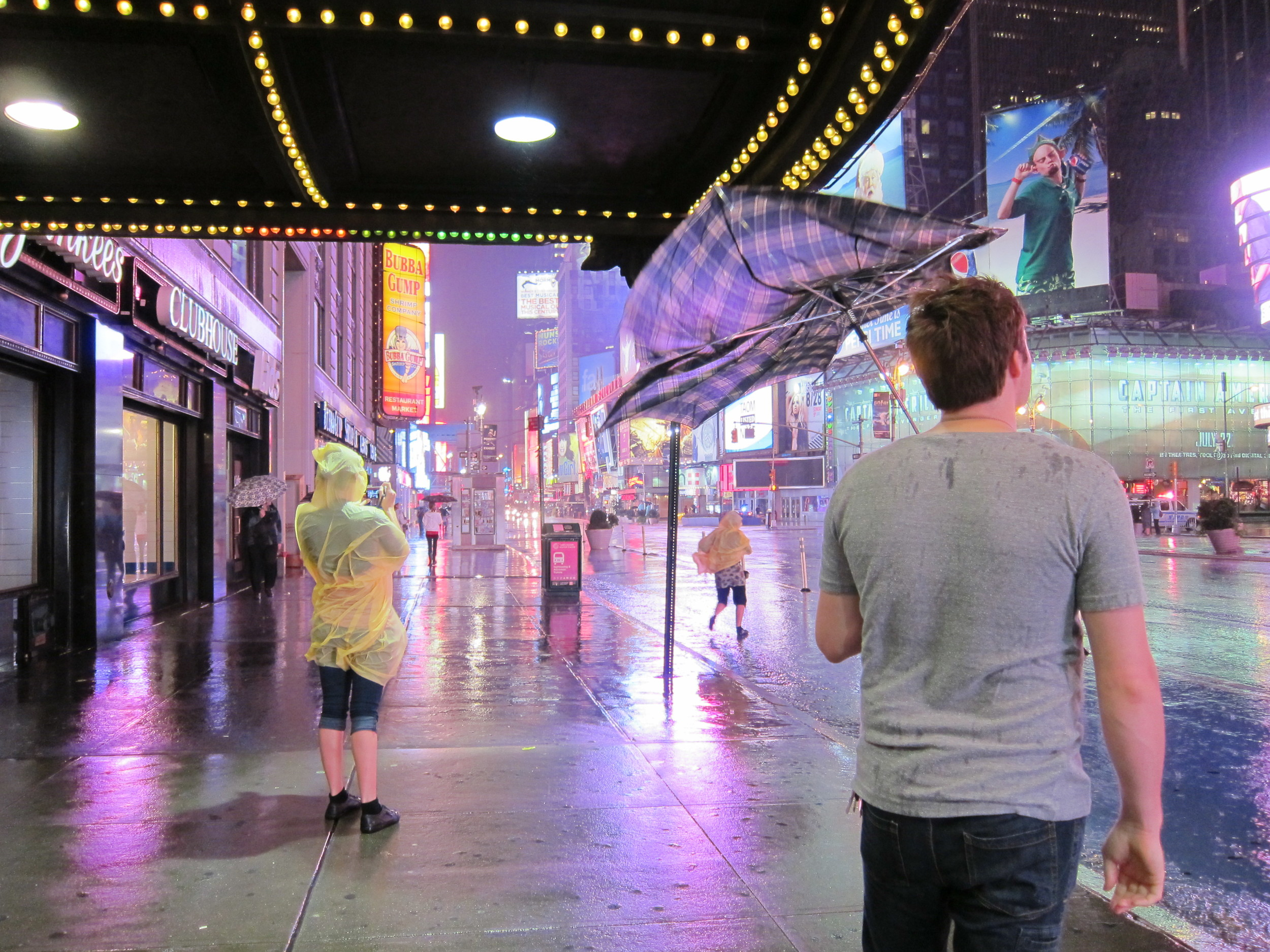 Zack, watching Hurricane Irene from Times Square