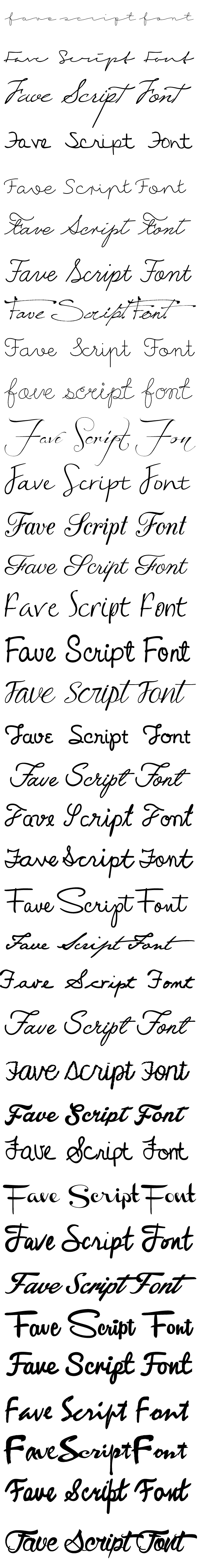 Of Many Parts // Favorite Script Fonts