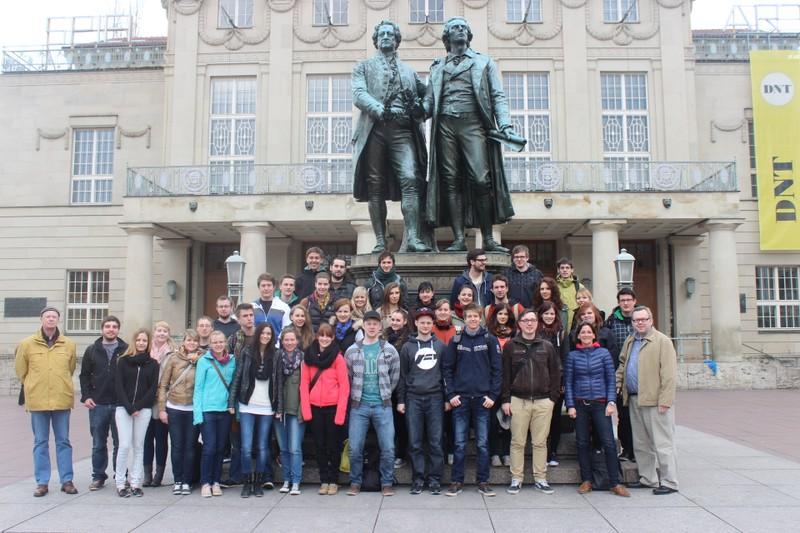Auf Goethes und Schillers Spuren in Weimar.