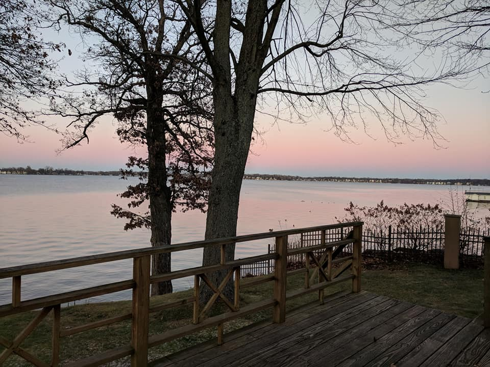 December sunset over Lake Wawasee, site of local formation gatherings. Photo by permission of Melissa Renner.