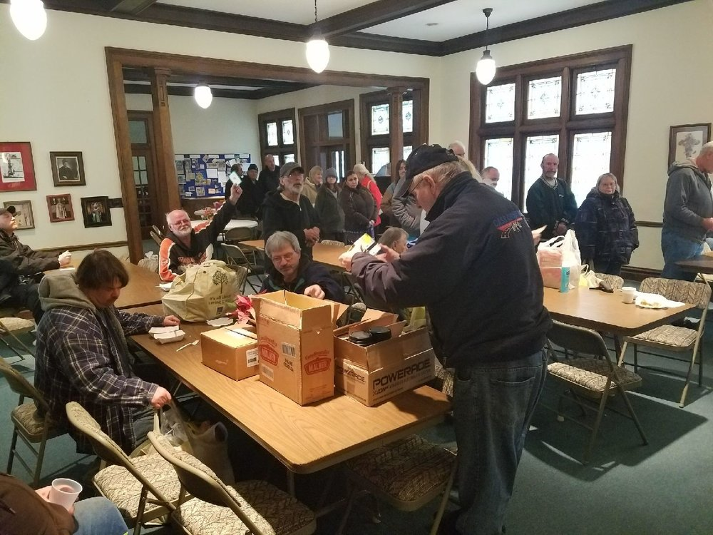 Food Pantry Distribution Day at Trinity Episcopal Church Logansport, Indiana