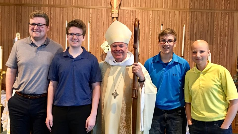 Confirmation at St. Timothy, Griffth (May 2018)