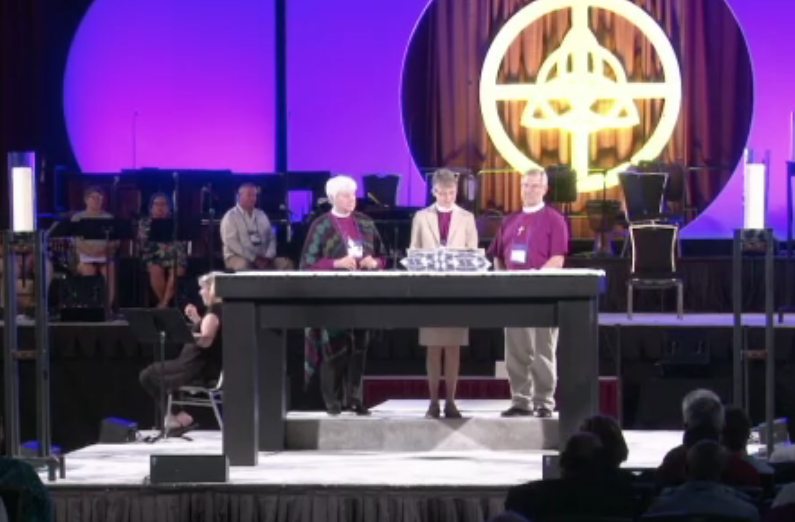 Bishops read testimonies from survivors of sexual abuse, exploitation and harassment in the church at a  Liturgy of Listening .