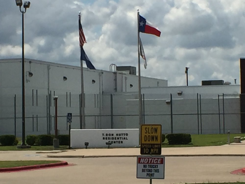 A picture of the Hutto detention center during the prayer service