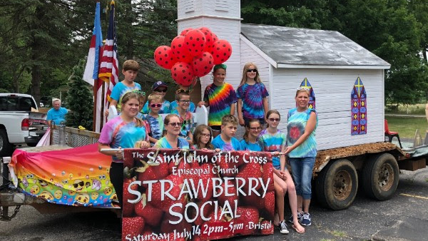 St. John of the Cross, Bristol - Homecoming Parade and Strawberry Social Banner (July 2018)