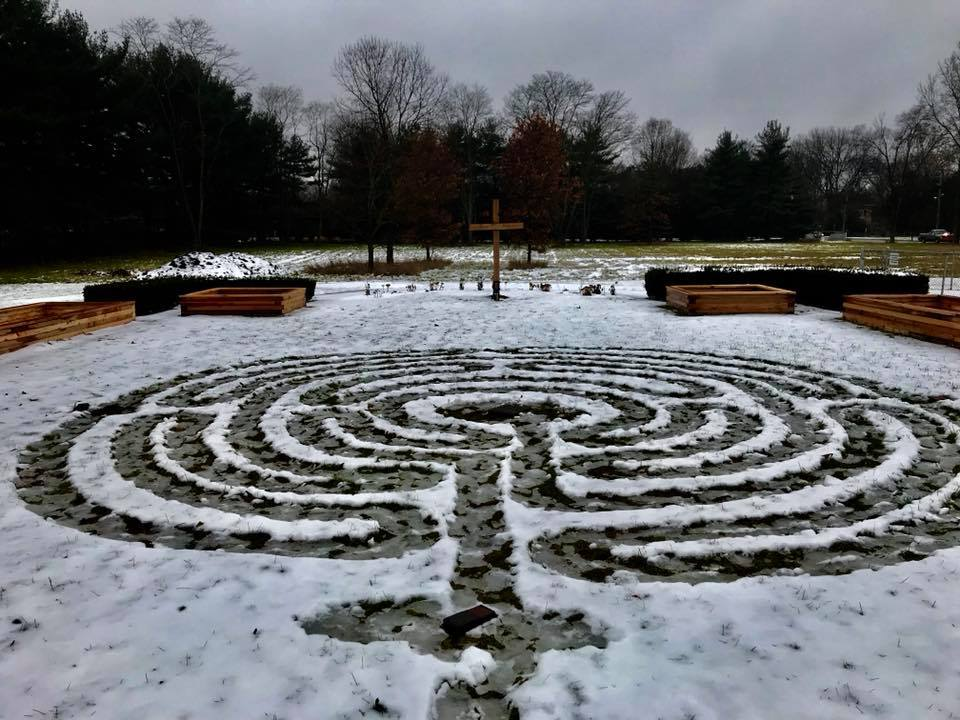 Winter labyrinth
