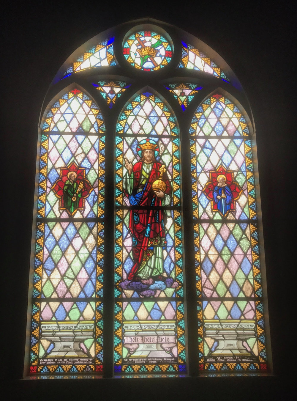 Christ the King Window at the Episcopal Church of the Good Shepherd in East Chicago, IN