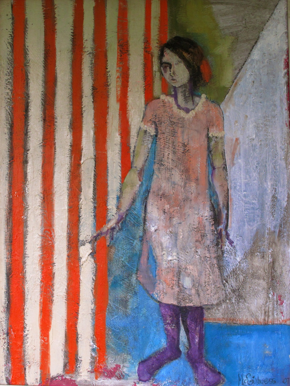 """Untitled  mixed medium/oil /linen  30""""by40"""""""