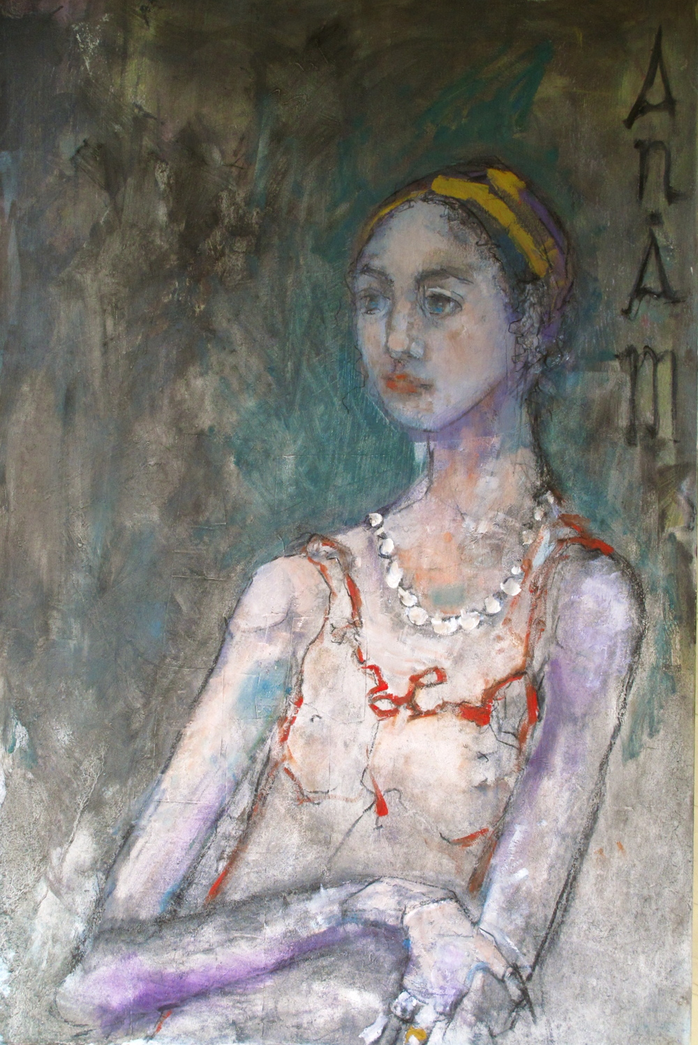 """Anam Cara  30""""by40""""/linen/oil"""