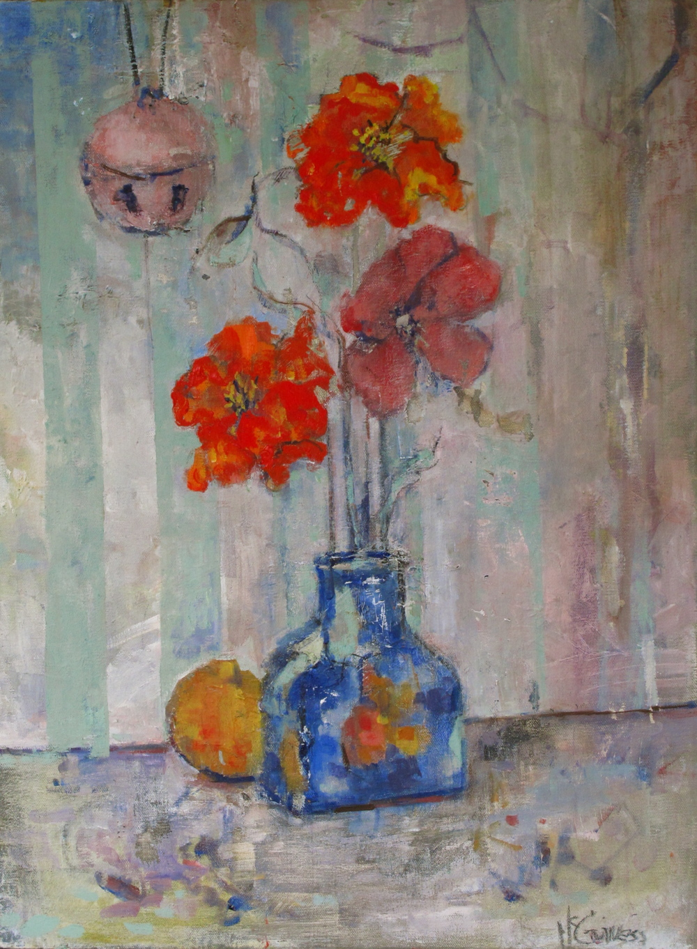 """Christmas bell  16""""by20""""  oil/linen"""
