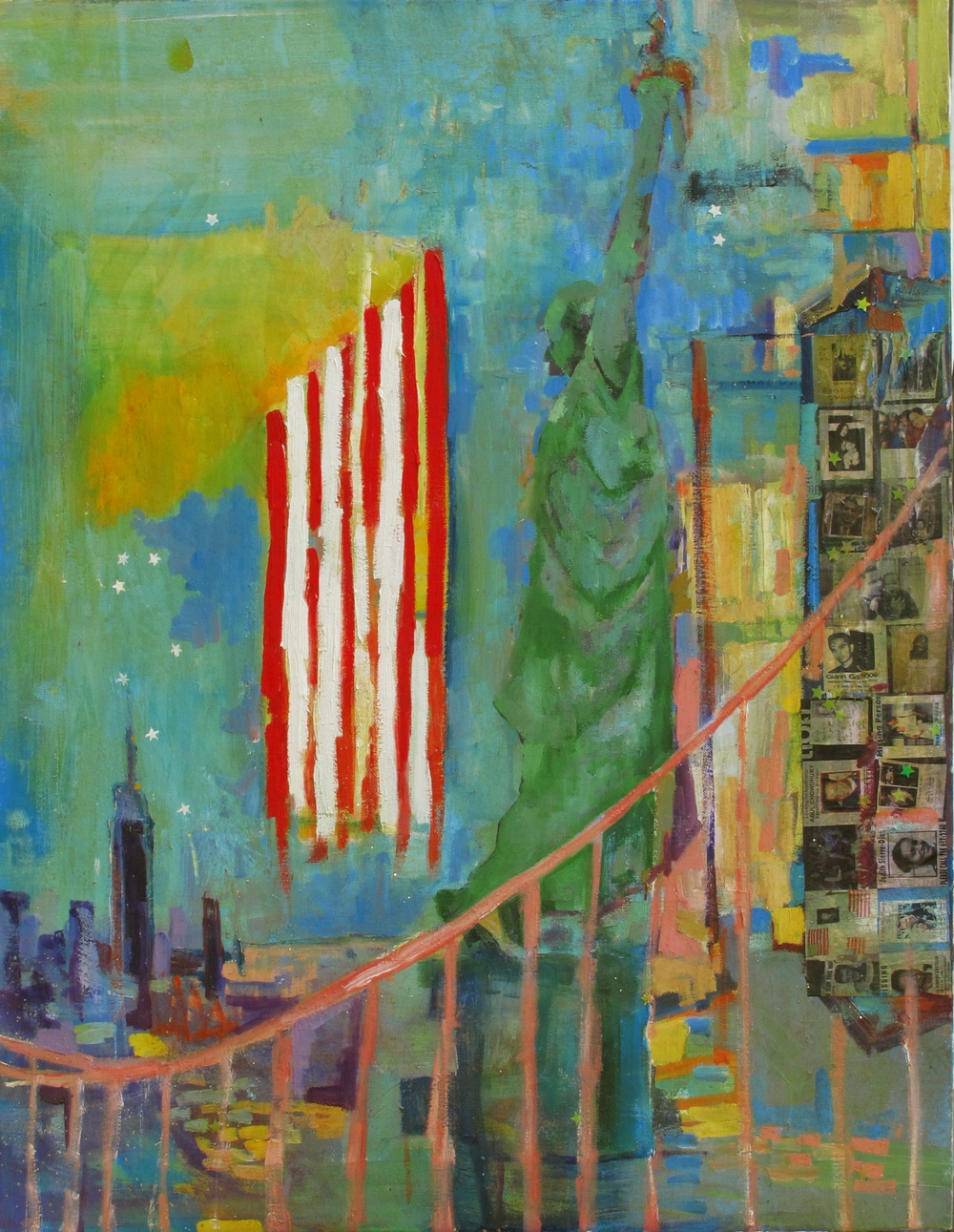 """Never Forget   mixed medium/oil canvas/18""""by24"""""""