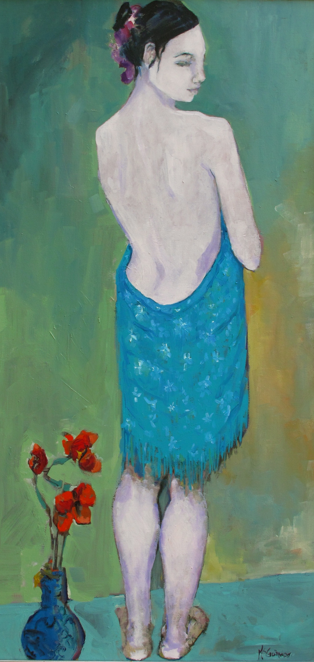 """Just A Girl   24""""by48""""  oil/linen"""