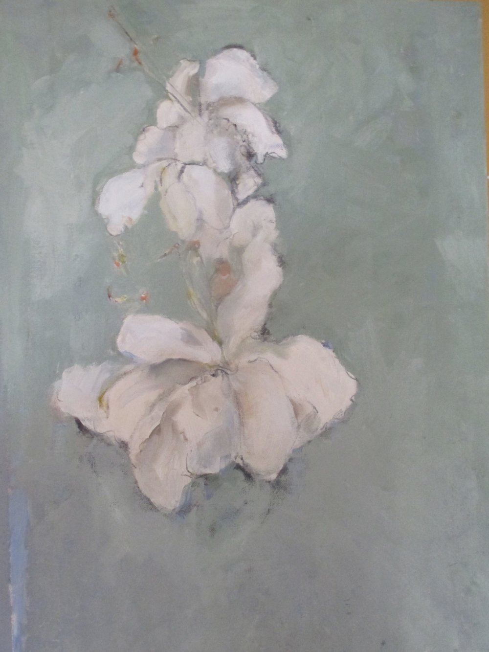 """A Gift     16""""by20""""  oil/linen"""