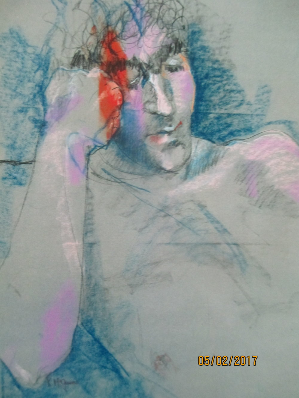 """Lenny  24""""by18"""" pastel/paper"""