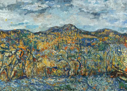 """Catskills Woodstock ny   30""""by40"""" oil/ canvas"""