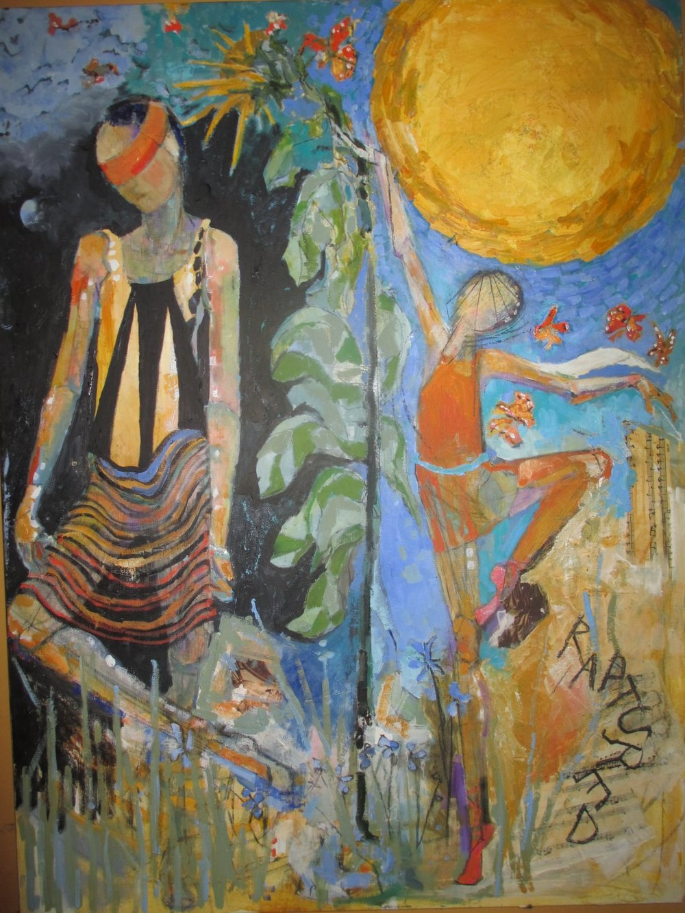 """Dance of the Monarch  oil/linen  30""""by40"""""""