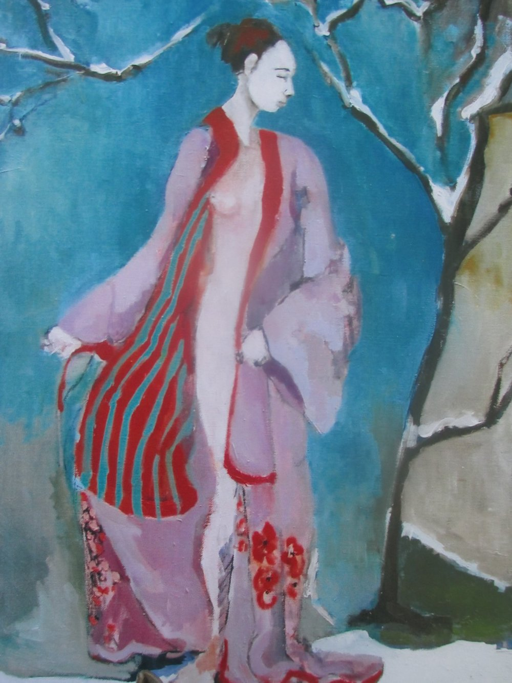 """Spring  oil/linen  16""""by20"""""""