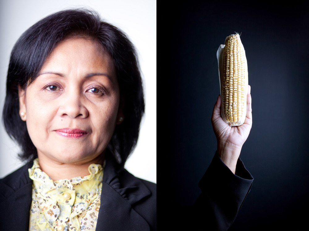 portrait with corn