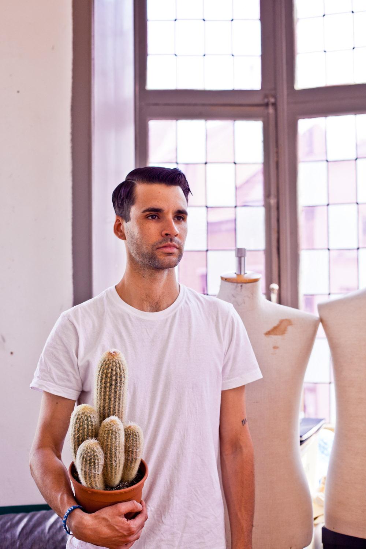 portrait with cactus
