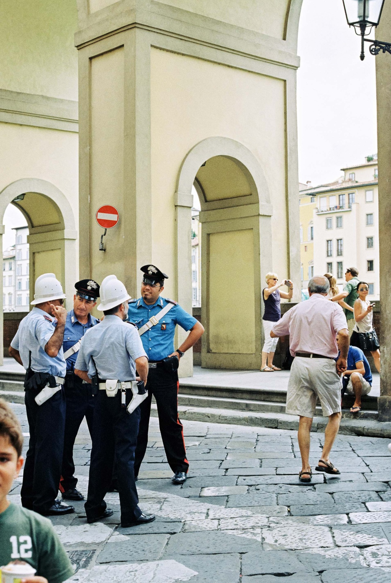 Meeting of police…Florence, Italy   Canon AI program 35mm    nataliehillphotography.com