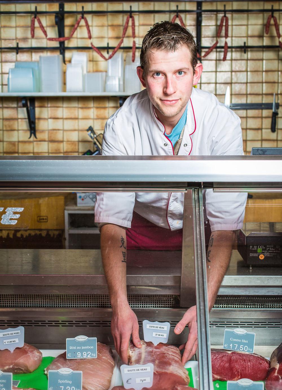 portrait young butcher