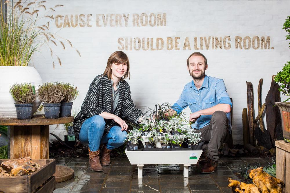 portrait gardening couple