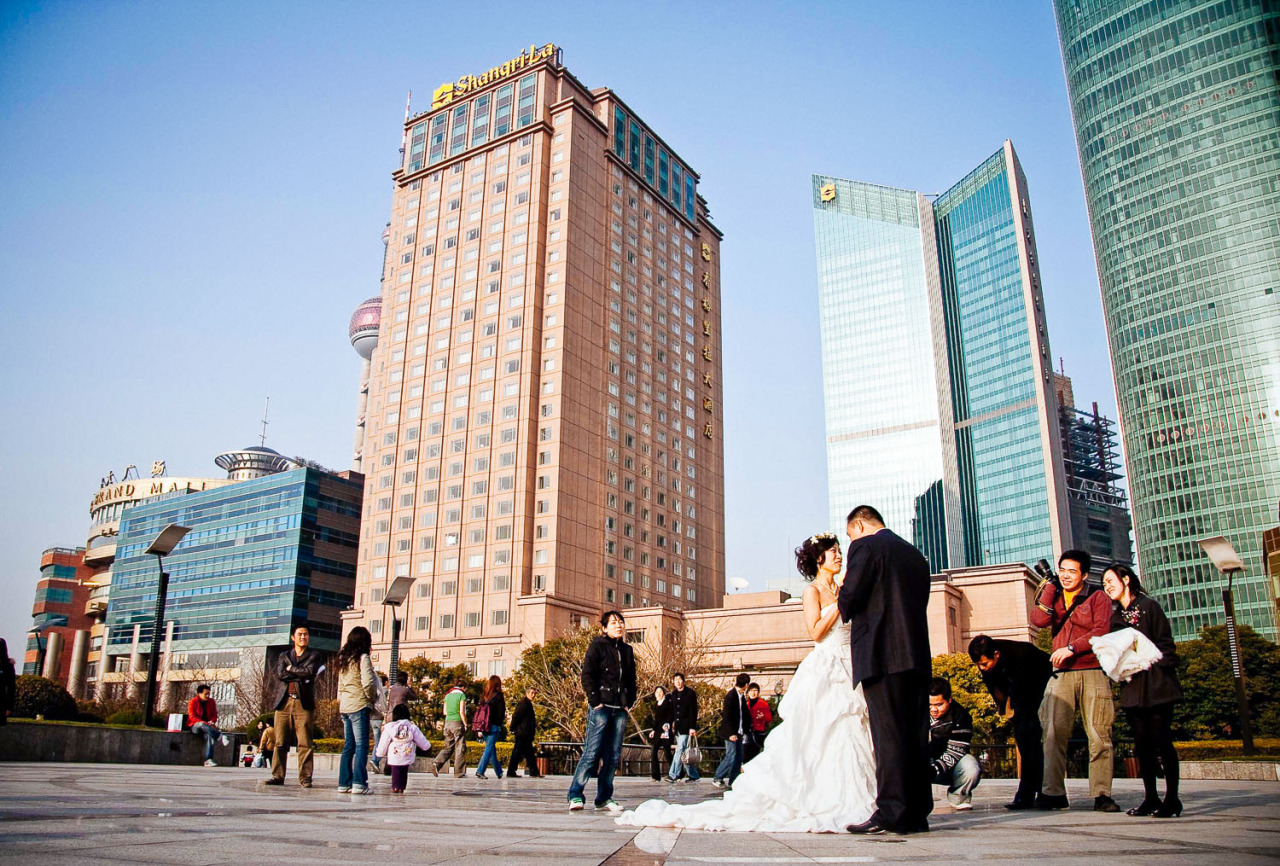 From the archives.    Wedding photography- Pudong style. Shanghai 2008.
