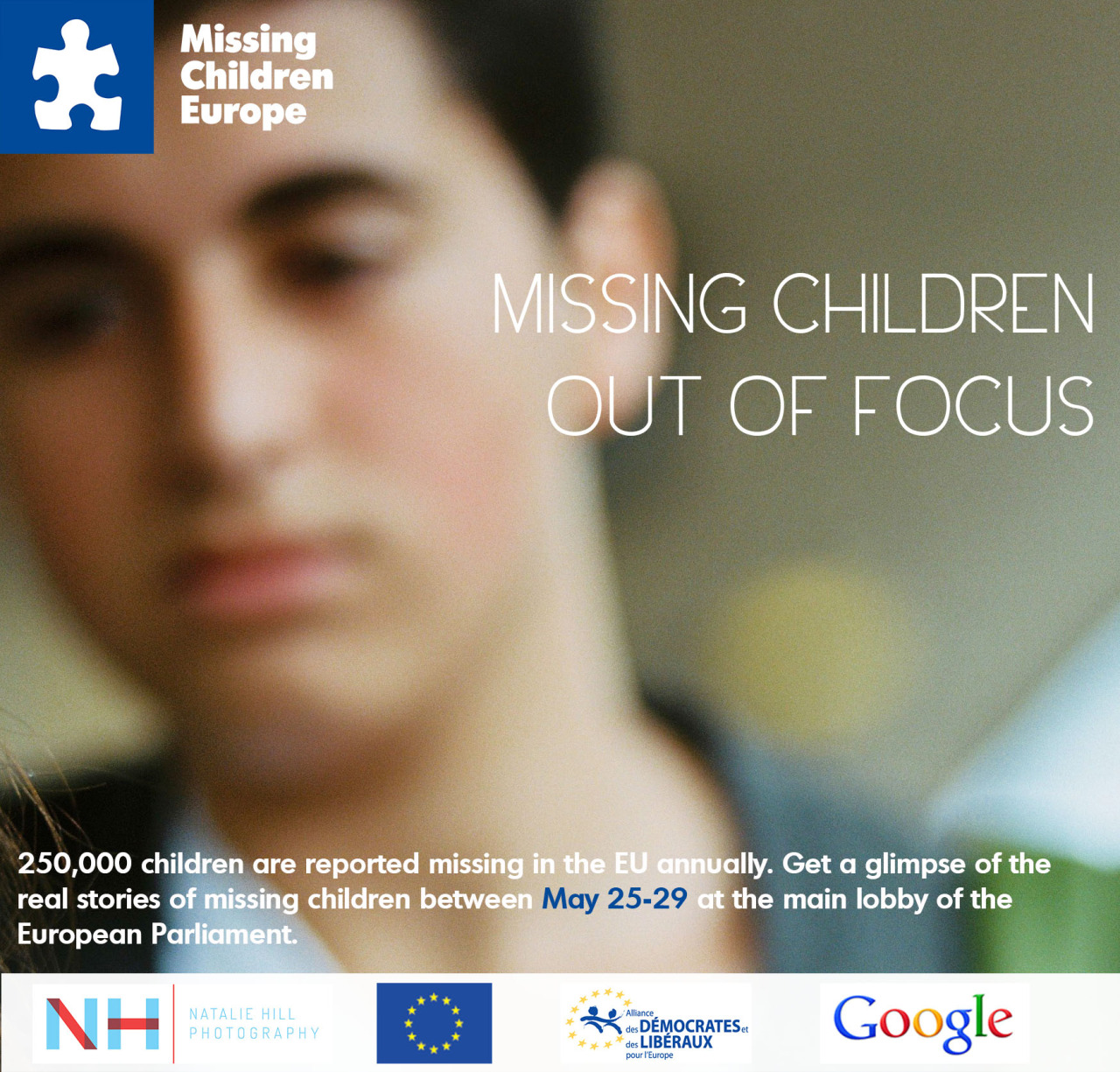 Next showing of my photography exhibition for Missing Children Europe- showing in the European Parliament in Brussels next week.