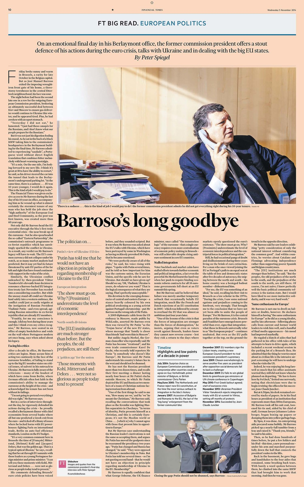 Jose Manuel Barroso Financial Times