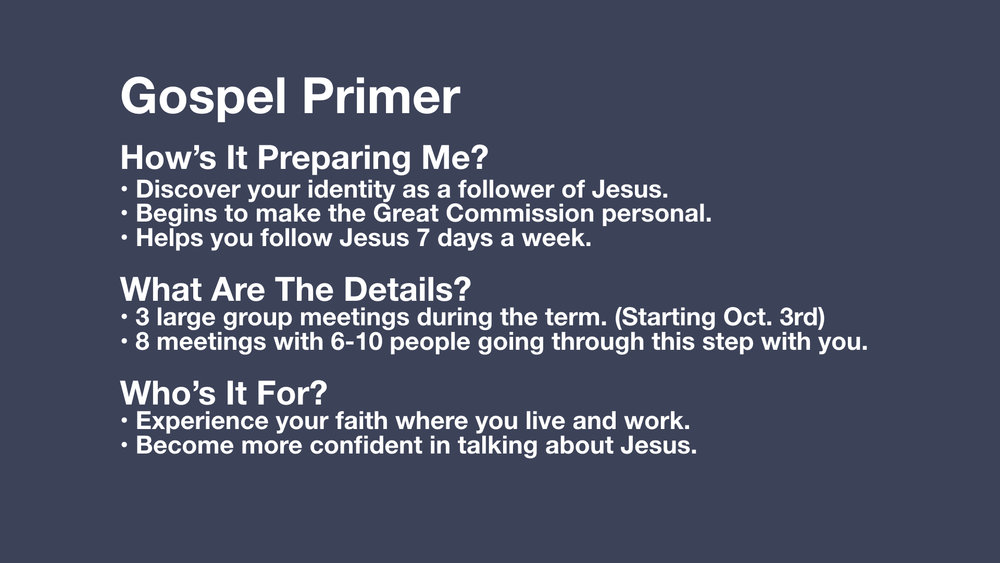 Register for Gospel Primer >