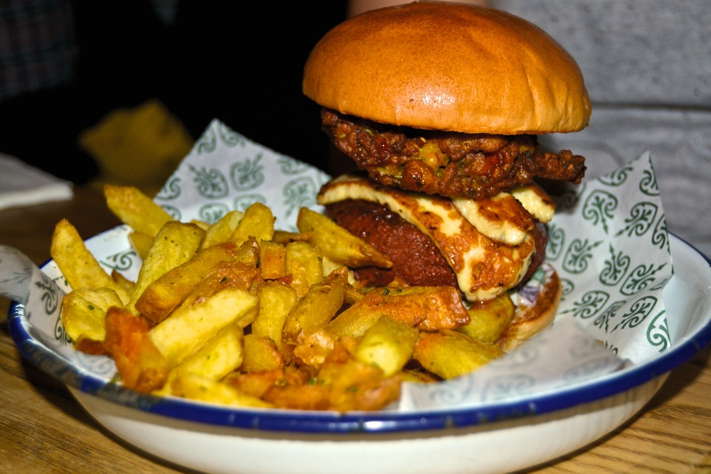 Honest London Honest Burgers review halloumi pakora indian burger soho