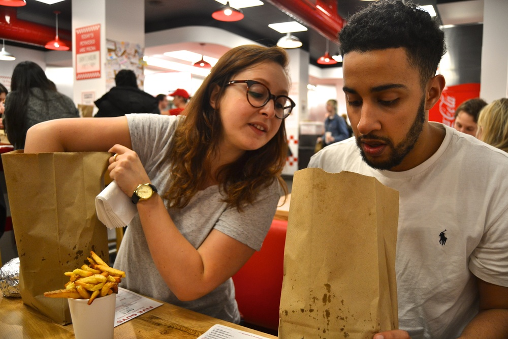 Honest London Five Guys soho review cheeseburger