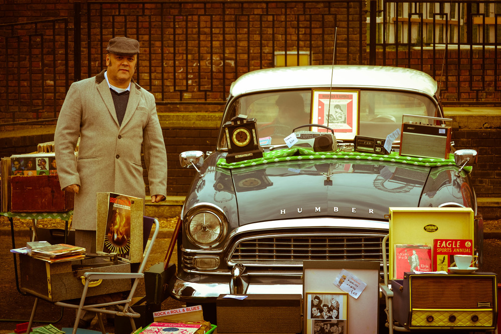 Honest London classic car boot sale vintage south bank