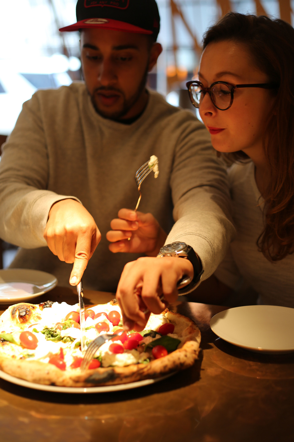 Honest London battle of the pizza review Princi burrata