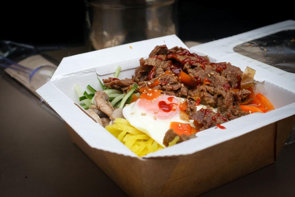Honest London battle of the bibimbap Korean bbq beef On the bab