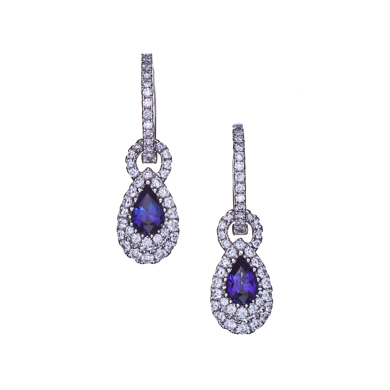 a pair diamond earrings classic of collections pear graff pearshape shape shaped
