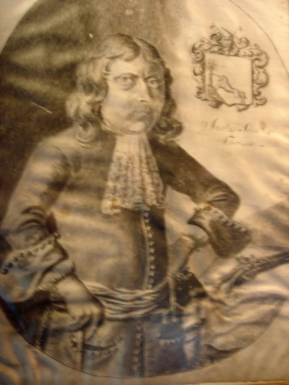 1685 original portrait of olof Bergh