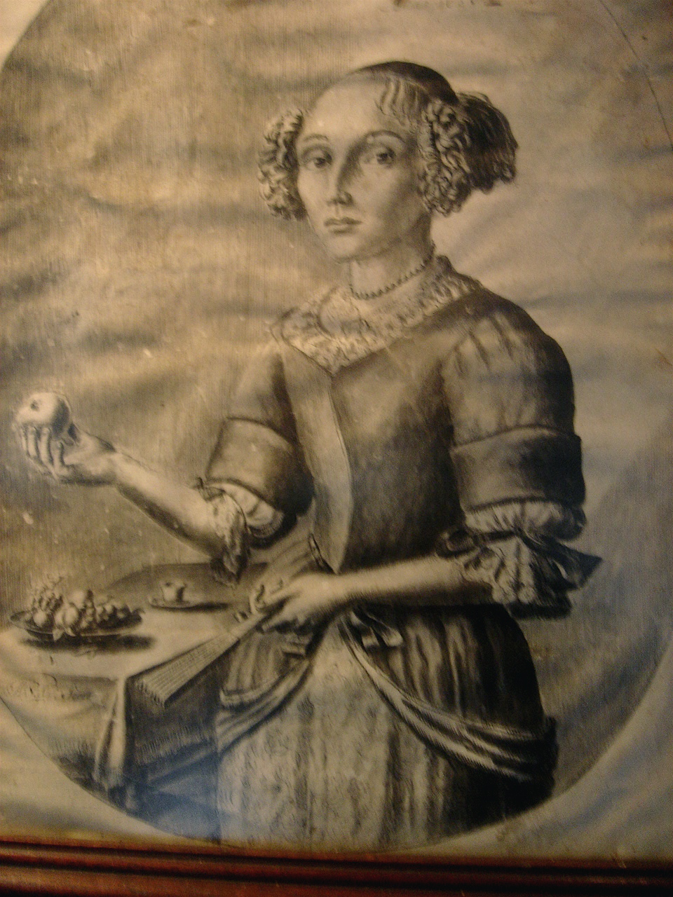 Original 1685 portrait of Anna de Koning