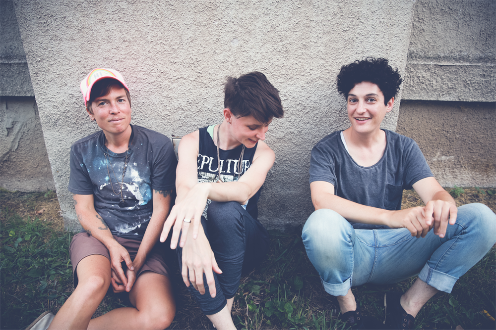 Left to right: Emily Kingan, Kerby Ferris, and Carolyn Berk of Lovers // Photo Credit: Ailecia Ruscin