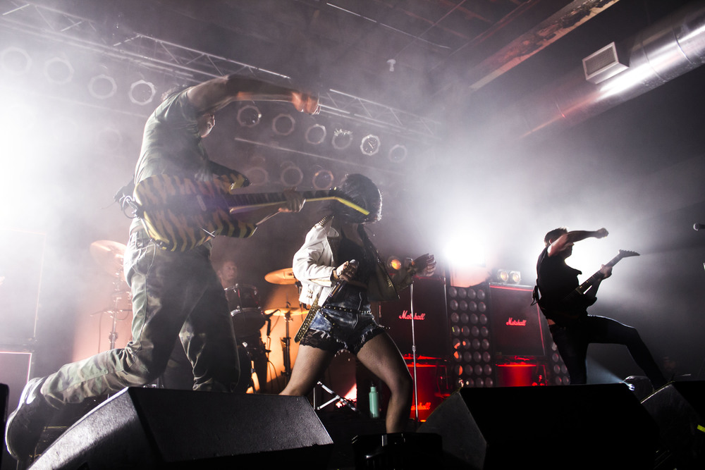 Sleigh Bells delivered a high energy performance at Wooly's. // All Photos by Cody Osen