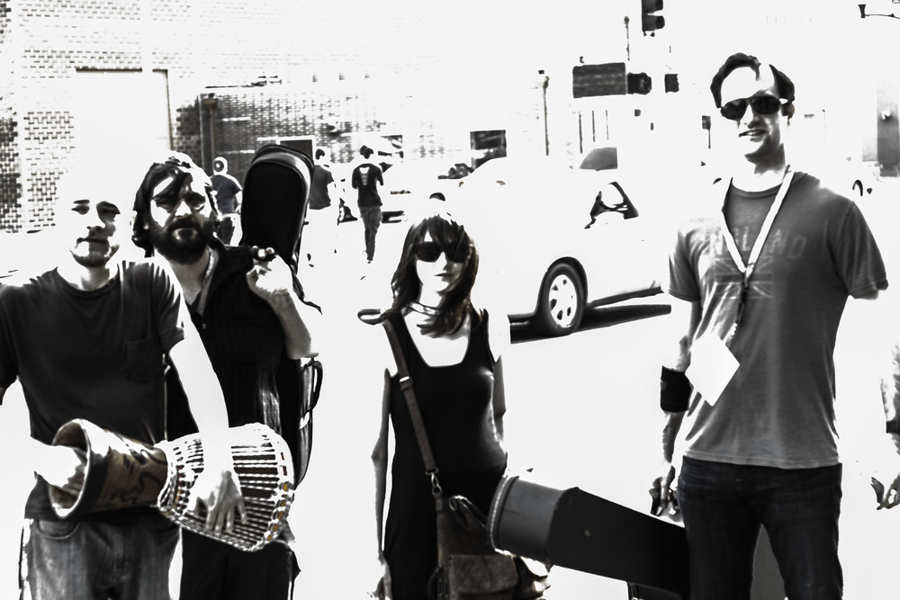 Love Songs for Lonely Monsters in the East Village, on their way to play Gross Domestic Product // Photo by Cody Osen