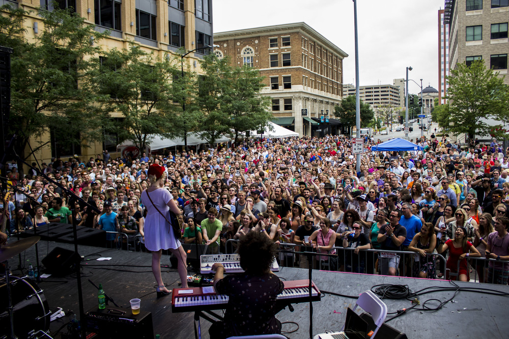 Minneapolis native, Caroline Smith, drew a large crowd // Photo by Cody Osen